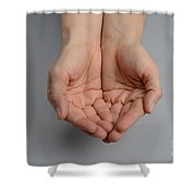 Cupped Hands Shower Curtain