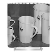 Cups Shower Curtain