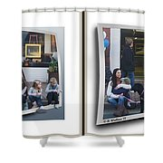 Curb Resting - Gently Cross Your Eyes And Focus On The Middle Image Shower Curtain
