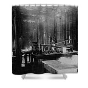 Curie Laboratory Shower Curtain