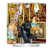 Curious Carousel Beasts Shower Curtain