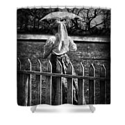 Curious Catey  Shower Curtain
