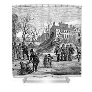 Curling, 1853 Shower Curtain