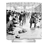 Curling, 1884 Shower Curtain