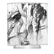 Curling Players, 1885 Shower Curtain