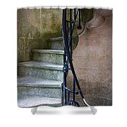 Curly Stairway Shower Curtain