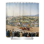 Currier & Ives: Racing, 1845 Shower Curtain