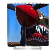 Curtiss P-40n-5 Kittyhawk Shower Curtain