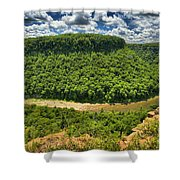Curve In The Canyon Shower Curtain