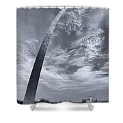 Curved Arch Shower Curtain