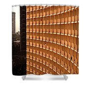 Curved Balconies Shower Curtain