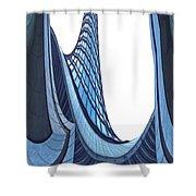 Curves - Archifou 42 Shower Curtain