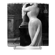 Curves In Black And White Shower Curtain