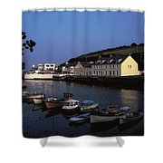 Cushendun Harbour, Co Antrim, Ireland Shower Curtain