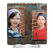 Custom Photo Portrait Group Shower Curtain
