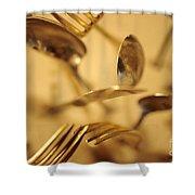 Cutlery Vortex Shower Curtain