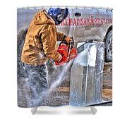 Cutting Ice Shower Curtain