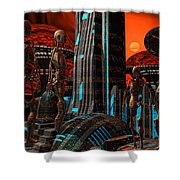 Cyber Innovation Shower Curtain