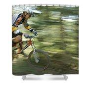 Cycling On Stoner Mesa, Colorado Shower Curtain