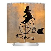 Cycling Pig Shower Curtain