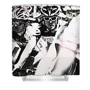Cycllist In The Peleton Shower Curtain
