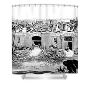 Cyclone Damage, 1896 Shower Curtain by Science Source