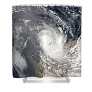 Cyclone Dominic Off The Shore Shower Curtain