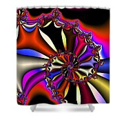 Cyclone Of Color Shower Curtain