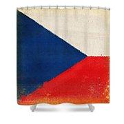 Czech Republic Flag Shower Curtain
