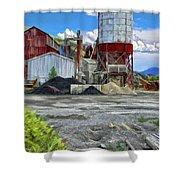 D And Rg Rail Yard In Salida Co Shower Curtain