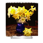 Daffodil Bouquet Shower Curtain