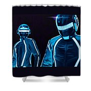 Daft Punk Shower Curtain by Ellen Patton