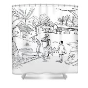Daily Life In South And Center Cameroon 02 Shower Curtain