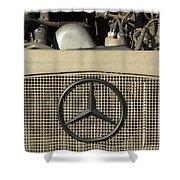 Daimler-benz A-g Hood Emblem Shower Curtain