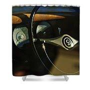 Daimler Steering Wheel Shower Curtain