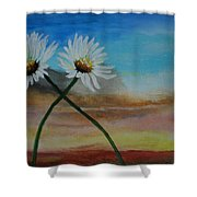 Daisy Mates Shower Curtain