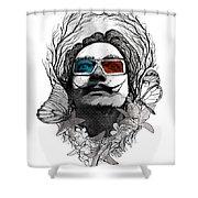 Dali In 3d Shower Curtain