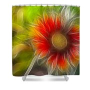 Dalia Pseudo Fractal Shower Curtain
