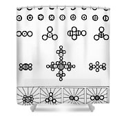 Daltons Symbols Shower Curtain