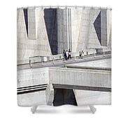 Dam Tourists Shower Curtain