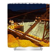 Hoover Dam Travellers Shower Curtain