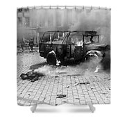 Damage Done By A V-2 Rocket In Antwerp Shower Curtain