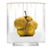 Damaged Apple Shower Curtain