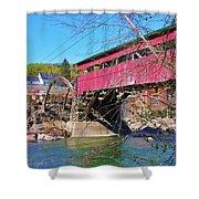 Damaged Covered Bridge Shower Curtain