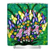 Dance Of The Flowers Shower Curtain