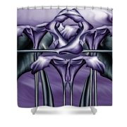 Dance Of The Purple Calla Lilies V Shower Curtain