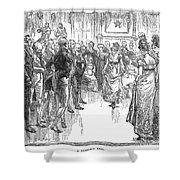 Dance: Virginia Reel C1800 Shower Curtain by Granger