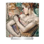 Dancer Shower Curtain by Edgar Degas