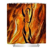 Dancing Fire V Shower Curtain