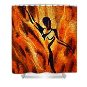 Dancing Fire Vii Shower Curtain